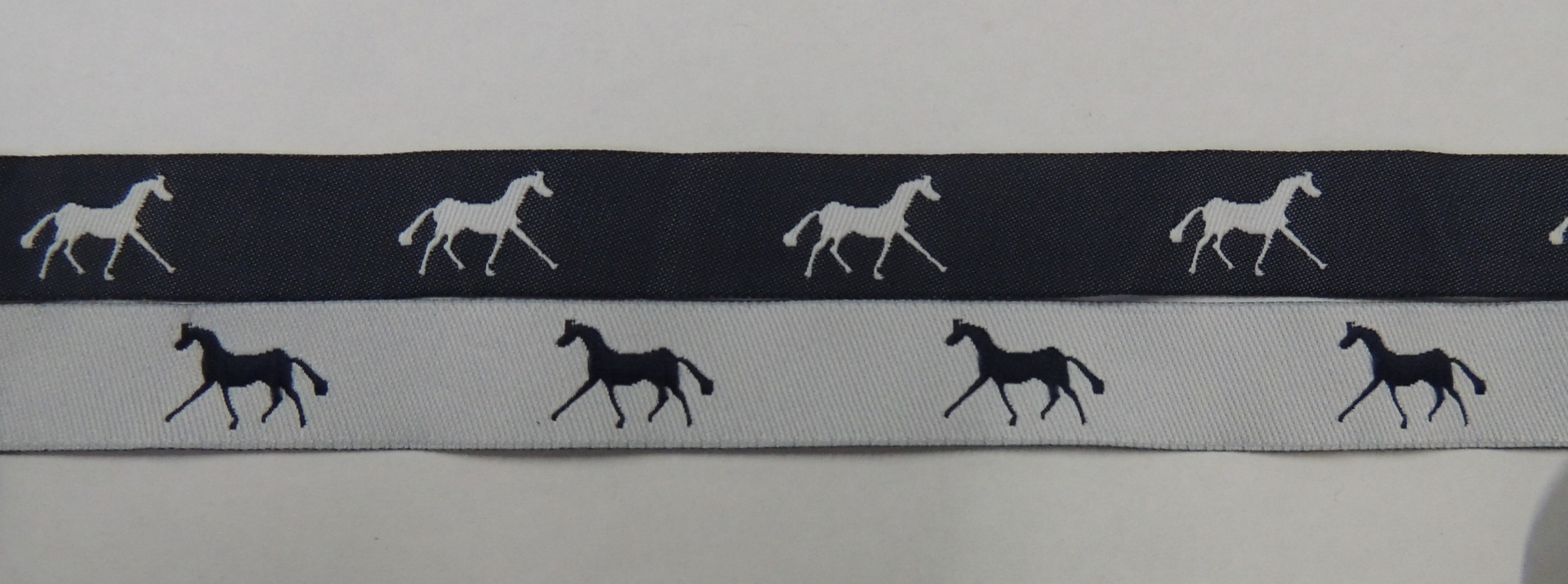 Navy with White horses/ White with Navy horses
