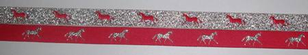 Hot Pink with Metallic Silver horses/Metallic Silver with Hot Pink horses