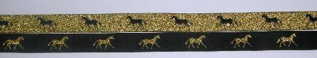 Black with Metallic Gold horses/Metallic Gold with Black horses