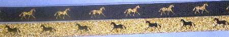 Navy with Metallic Gold horse /Metallic Gold with NAVY horse