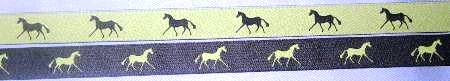 Green with Navy horse/ Navy with Green horse