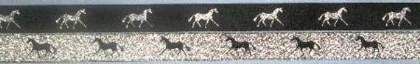 Black with Metallic Silver horse /Metallic Silver with Black horse
