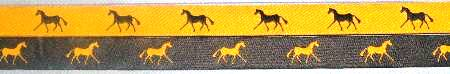 Yellow with Navy horse / /Navy with Yellow horse