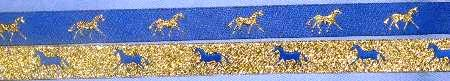 Royal with Metallic Gold Horses/Metallic Gold with Royal Horses