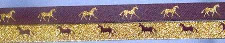 Purple with Metallic Gold horse / Metallic Gold with Purple horse