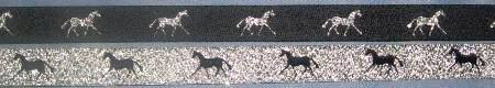 Navy with Metallic Silver horse / Metallic Silver with Navy horse