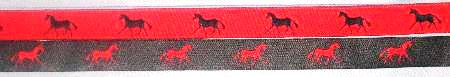 Red with Navy horse / Navy with Red horse