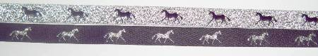 Purple with Metallic Silver horses/Metallic Silvert with Purple horses