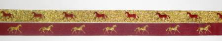 Maroon with Metallic Gold horses/Metallic Gold with Maroon horses