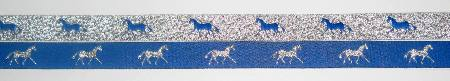 Royal with Metallic Silver horses/Metallic Silver with Royal horses